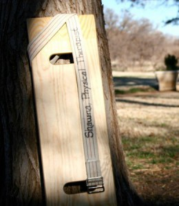 Transfer board against a tree