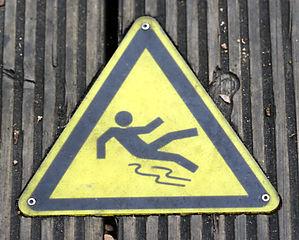Falling Precaution Sign