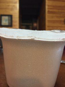 Styrofoam Cup of ICE